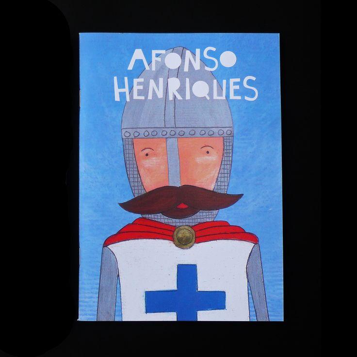 Cadernos A5 com folhas lisas de papel reciclado. Capa com ilustração de Afonso Henriques.