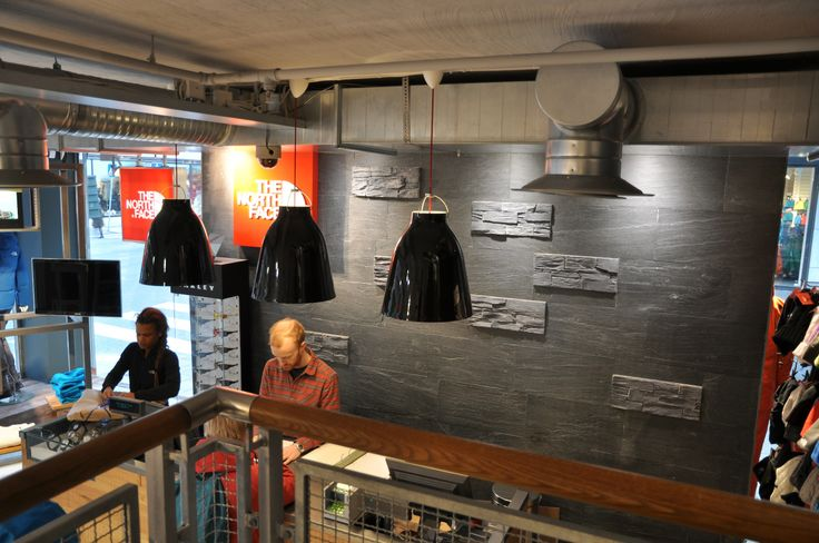 Slate used for effect at a North Face store