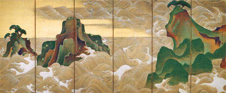 尾形光琳 「松島図屏風」 Ogata Kourin