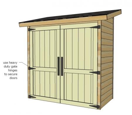 Ana White | Build a Small Cedar Fence Picket Storage Shed | Free and Easy DIY Project and Furniture Plans
