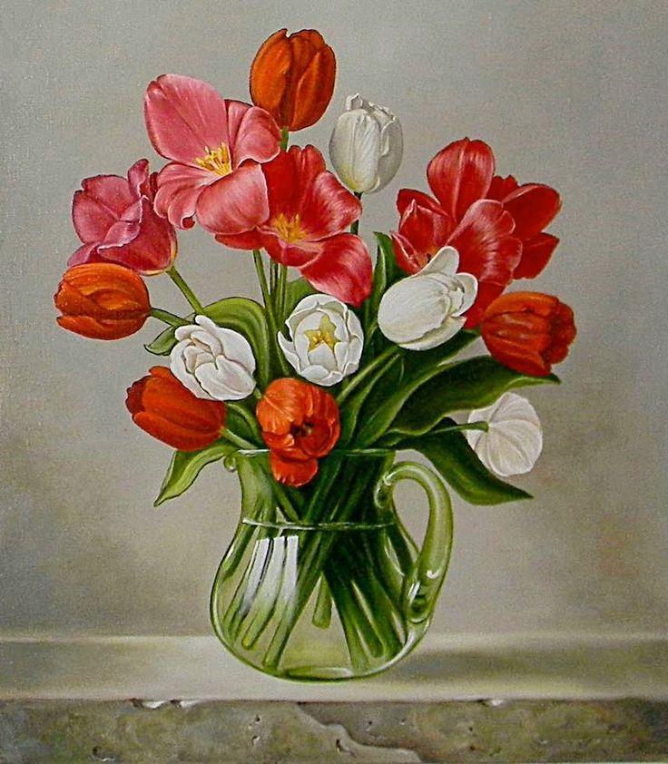 Схема вышивки «весенние цветы» - Вышивка крестом