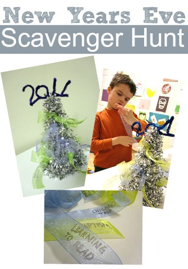 new years eve scavenger hunt for kids from No Time for Flash Cards