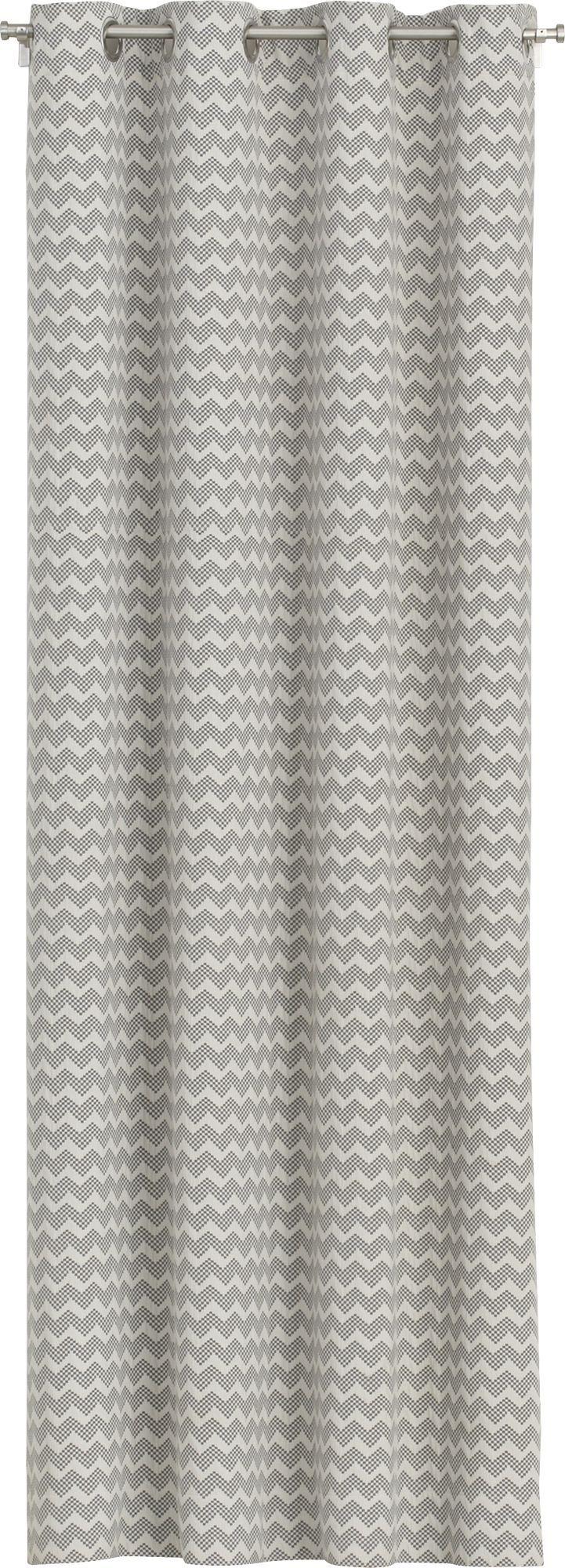 Gray chevron curtain panels - Reilly Grey Chevron Curtains