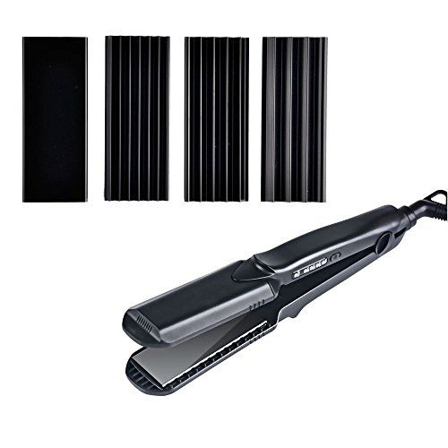 Hair Straightener Curling Iron 4 Interchangeable Plates 1.5 Inch Small Waves Curler Hair Crimper and Flat Iron. For product & price info go to:  https://beautyworld.today/products/hair-straightener-curling-iron-4-interchangeable-plates-1-5-inch-small-waves-curler-hair-crimper-and-flat-iron/