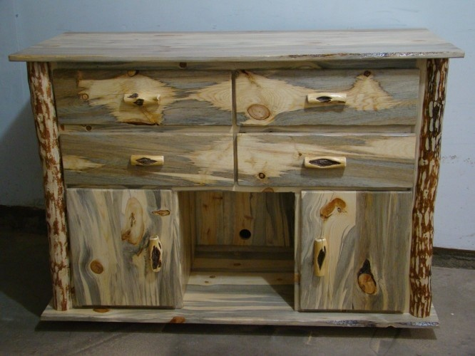 High Quality Beetle Kill Pine Cabinet. I Want Something Like This For Our Bathroom Sink  Cabinet.