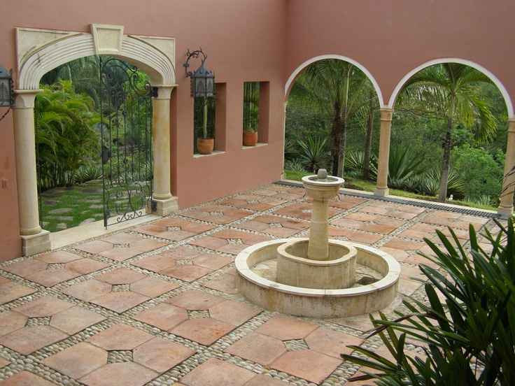 17 best fuentes images on pinterest water features for Patios decorados