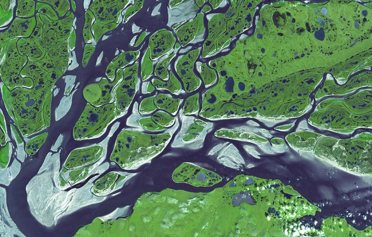 Lena River as seen from ASTER