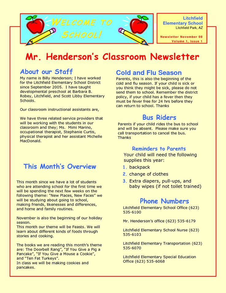 16 best Preschool newsletter images on Pinterest Model - newsletter sample templates
