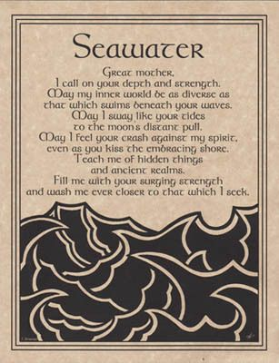 Seawater Prayer Poster A4 Size Wicca Pagan Witch Witchcraft Book of Shadows | eBay