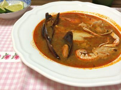 Parihuela - Peruvian Seafood and Fish Spicy Soup