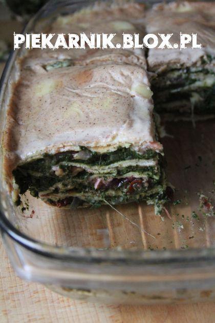 Lazania naleśnikowa ze szpinakiem / Crepes-Lasagna with Spinach
