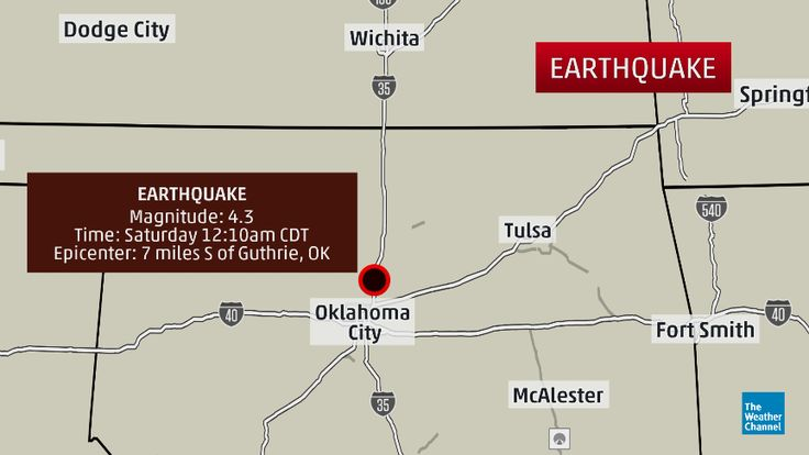 OKLAHOMA 4.3 MAG. EARTHQUAKE CENTERED N OF OKC AT 12:10 AM FOLLOWS 3.5 MAG AND 3.4 MAG LESS THAN 1 HOUR EARLIER - 6/20/2015