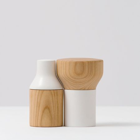 Doublefacette is a salt & pepper shaker from Swiss designer Florian Hauswirth. The forms of the containers, just like the content, complement each other. Made of ceramic and cherry wood. Double...