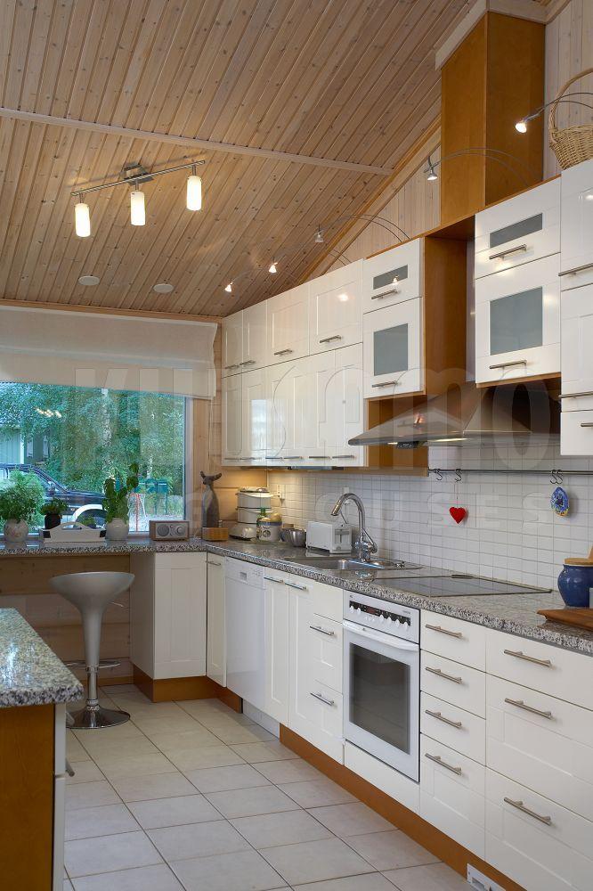 #cocina #casa de #madera Kuusamo Log Houses modelo KU173