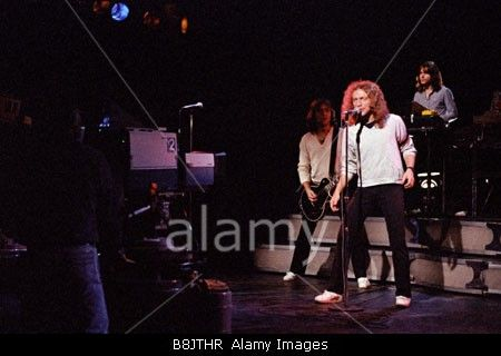 Pop Group Foreigner recording a music video at Matrix Studios New York December 1978 PER0136 Stock Photo