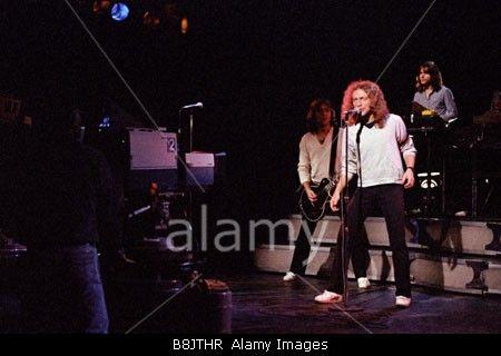 Pop Group Foreigner recording a music video at Matrix Studios New York December 1978 PER0136 Stock Photo