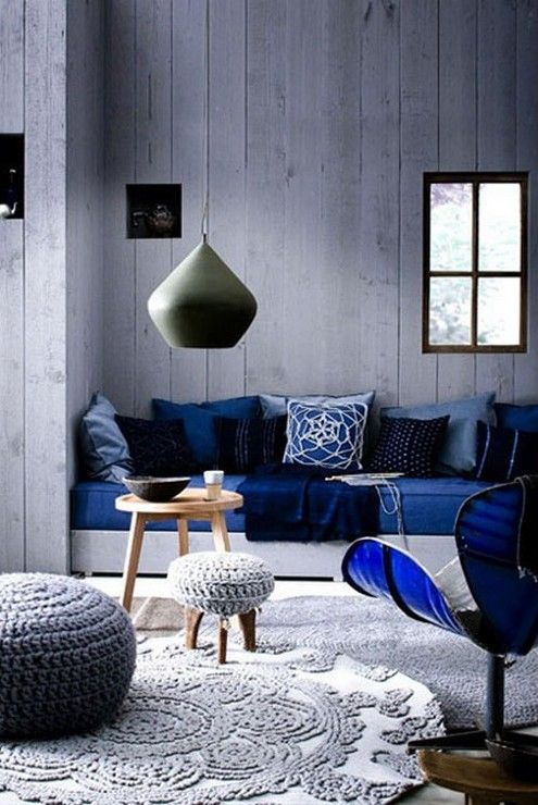 Gray and blue living room design idea more gray than blue love the touch of blue quite a cold color scheme