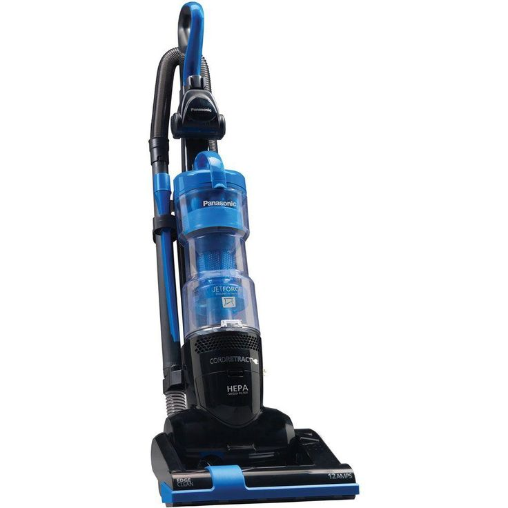 Panasonic Bagless Upright Vacuum Cleaner with 9X Cyclonic Technology, Blues