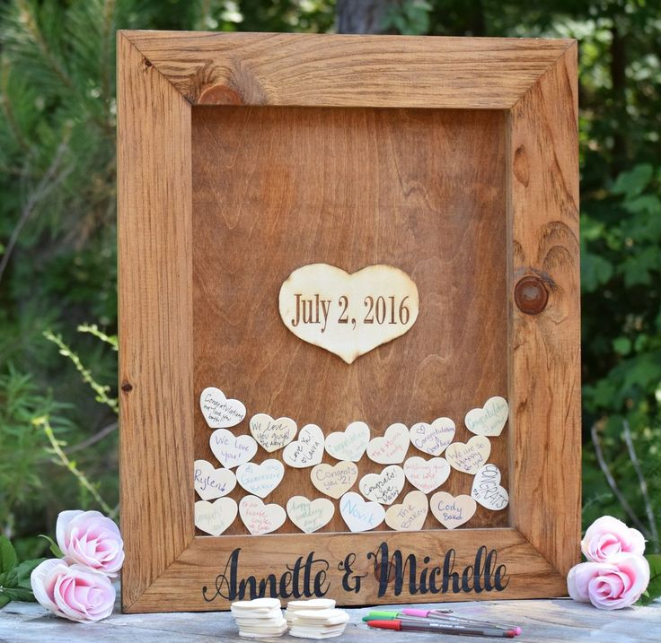 This unique guest book can be fully customized for you! It features beautiful laser engraving throughout! It is made from pine and includes a piece of acrylic that slides easily in and out for easy ac