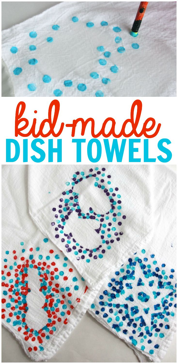 Kid Made Dish Towels