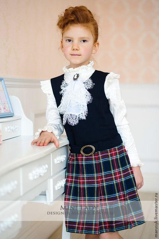 Купить Сарафан школьный-2 - однотонный, сарафан школьный, сарафан для девочки, сарафан, школьная форма