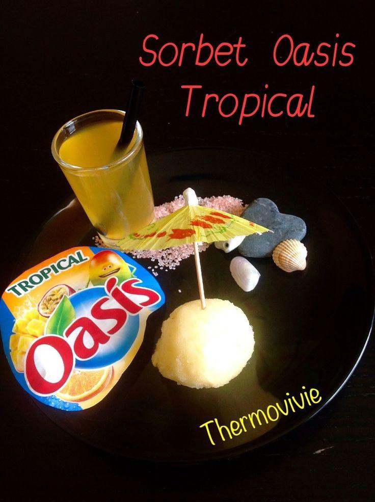 Avec l'été on fait des sorbets avec tous les fruiiiiixxx que l'on a sous la main... Mais pourquoi s'embêter à congeler des fruits lorsqu'on peut faire un délicieux sorbet avec la boisson préférée de l'été? Et contrairement au sorbet oasis que l'on trouve...