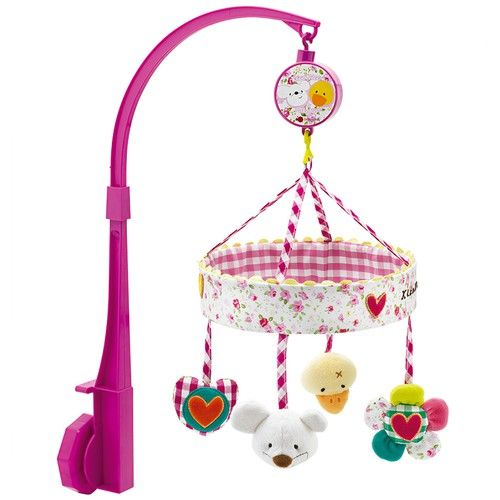musical carousel music box with rose