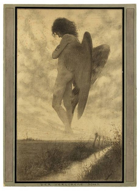Hugo Hoeppener (Fidus) - The Prodigal Son (Der Verlorene Sohn)  1892