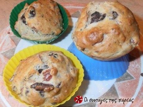 Αλμυρά Muffins με ελιές, ρίγανη και δενδρολίβανο ... ...