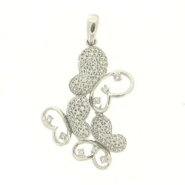 Ladies 14K white gold butterfly shaped diamond pendant. This pendant is set with 0.48ct total diamond weight of diamonds. http://artistryingold.ca/