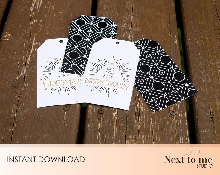 INSTANT DOWNLOAD - Will you be my bridesmaid? Tags - Wine tags - Gift tags _ wedding_ Gift _ Pattern _ SKU: BMB_15 by NextToMeStudio on Etsy