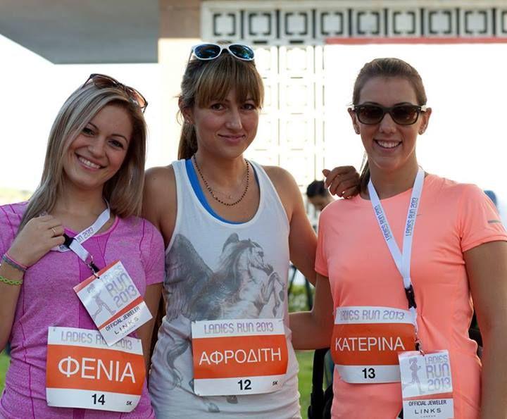 #ladiesrungreece  Fenia Tsavdari, Afrodite Pighi and Katerina Hadjidakis