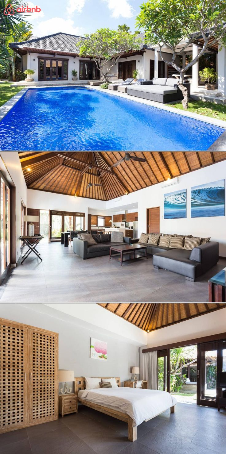 A modern two bedroom villa on a 550 square meter property. It's right inbetween the Berawa and Batu Belig areas about a 5 minutes' drive to Seminyak, 15 minutes to Canggu, and 2 minutes to the beach. Directly across from La Laguna. Walk to top restaurants!