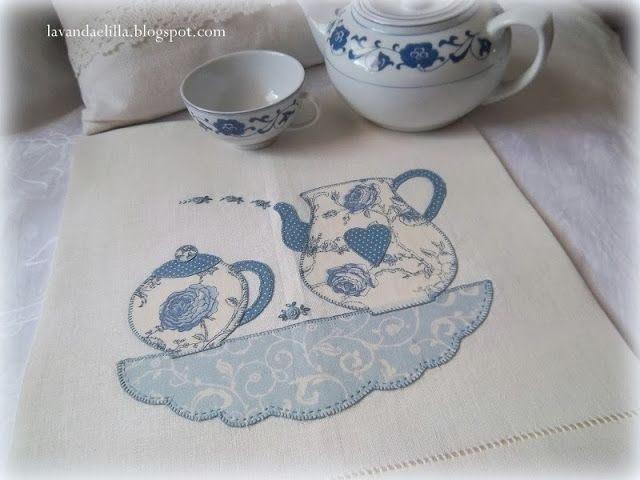 Tea on a cloud - amazingly cute table mat or tea towel