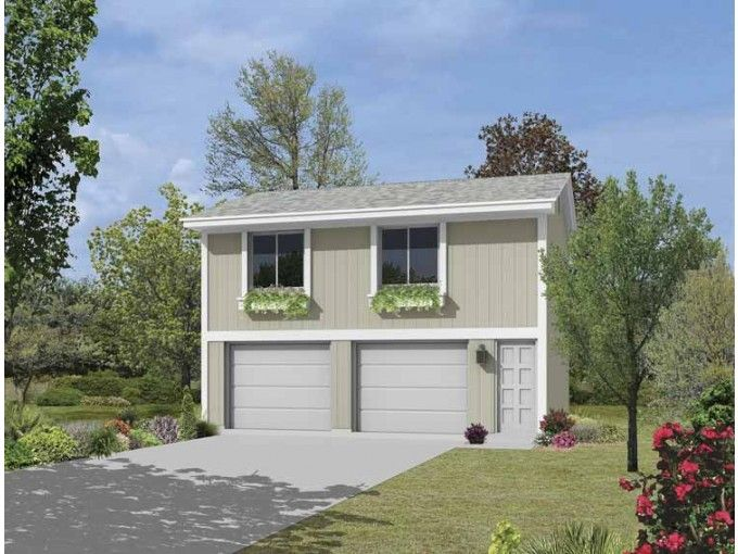 Garage plan with apartment from plan hwepl68235 complements bi level and basement - Garage house kits property ...