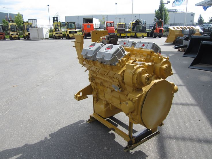 "Caterpillar ""3408"" V-8 diesel engine."