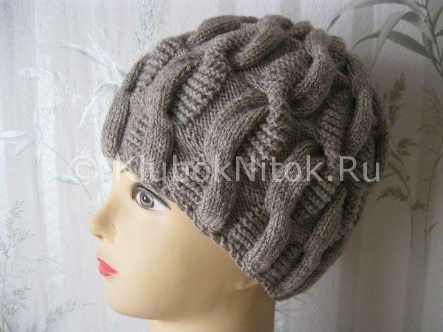 Шапочка «Змейка» | Вязание для женщин | Вязание спицами и крючком. Схемы вязания.