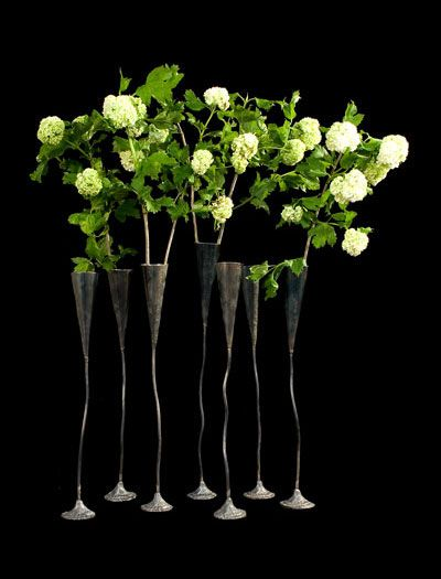 Champagne Vases by Danish Artist Tage Andersen