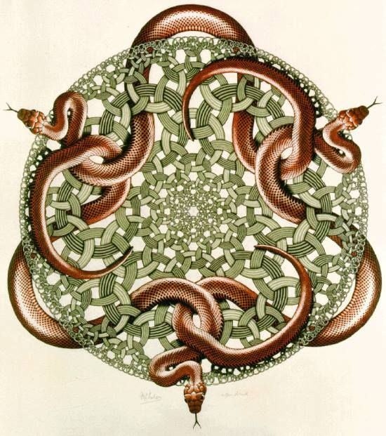 """Celtic Snake.  """"The ancient Celts were extremely nature-wise and approached snake symbolism from the behavior and life cycle of this magnificent creature. From the Celtic perspective, the snake was a symbol of secret knowledge, cunning and transformation."""""""