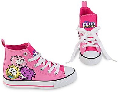 Saraapril in Club Penguin: Club Penguin PINK Puffle Sneakers :)
