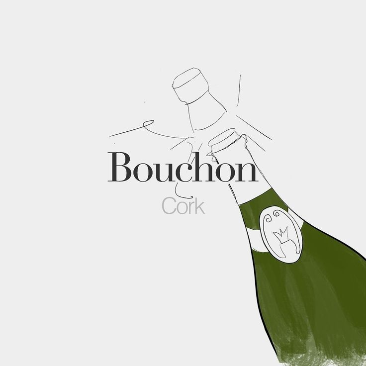 Bouchon (masculine word)  Cork  /bu.ʃɔ/  Drawing: @beaubonjoli