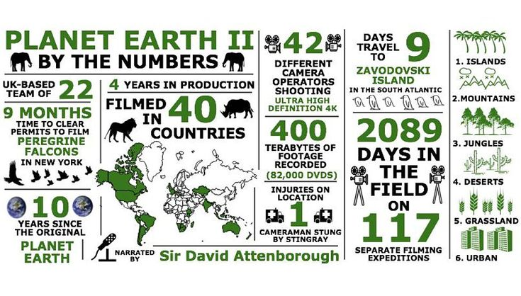 BBC One - Planet Earth II - Planet Earth II by the numbers  WOW