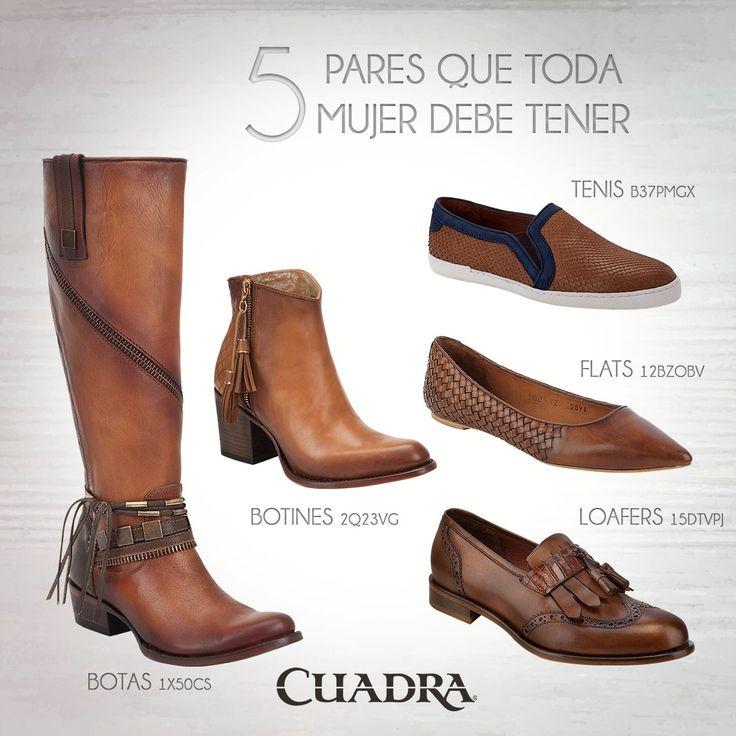 En tu armario mínimo debes tener un par de cada categoría. #CUADRA #Shoes #Flats…