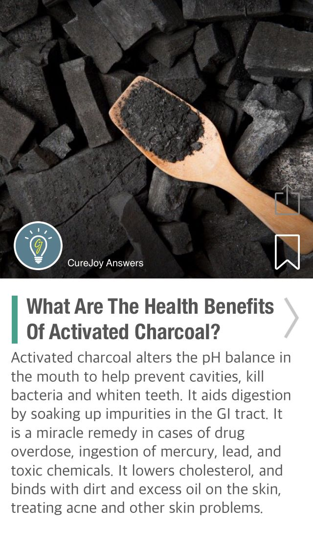 What Are The Health Benefits Of Activated Charcoal? - via @CureJoy