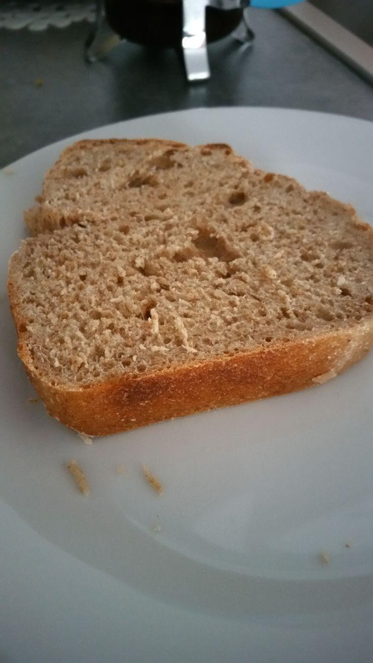 Pour celles et ceux qui me connaissent, je vais peut-être vous étonner mais je n'avais jamais fait de pain. Pourquoi? Parce que j'ai les bras d'Olive, la femme de Popeye et que pé…