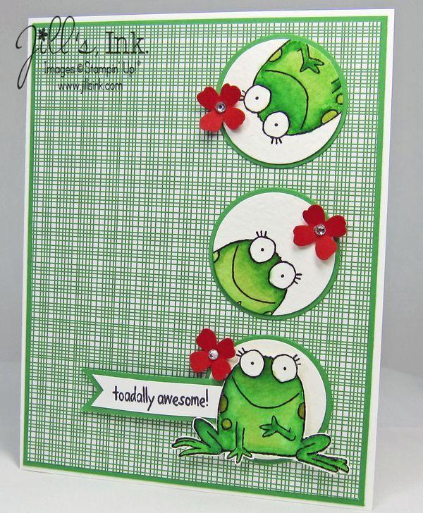 Дню, открытка с лягушкой скрапбукинг
