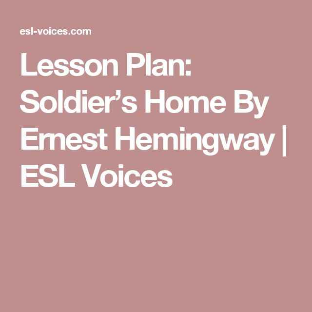 ERIC - Irony of Situation in Ernest Hemingway's Soldier's.