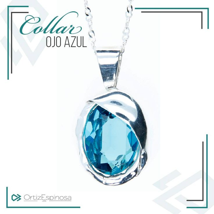 Conoce nuestro #CollarOjoAzul con su diseño exclusivo y cristal Swarovski en color azul que te brindará paz y relajación en tu vida. Encuéntralo en http://www.ortizespinosa.com/