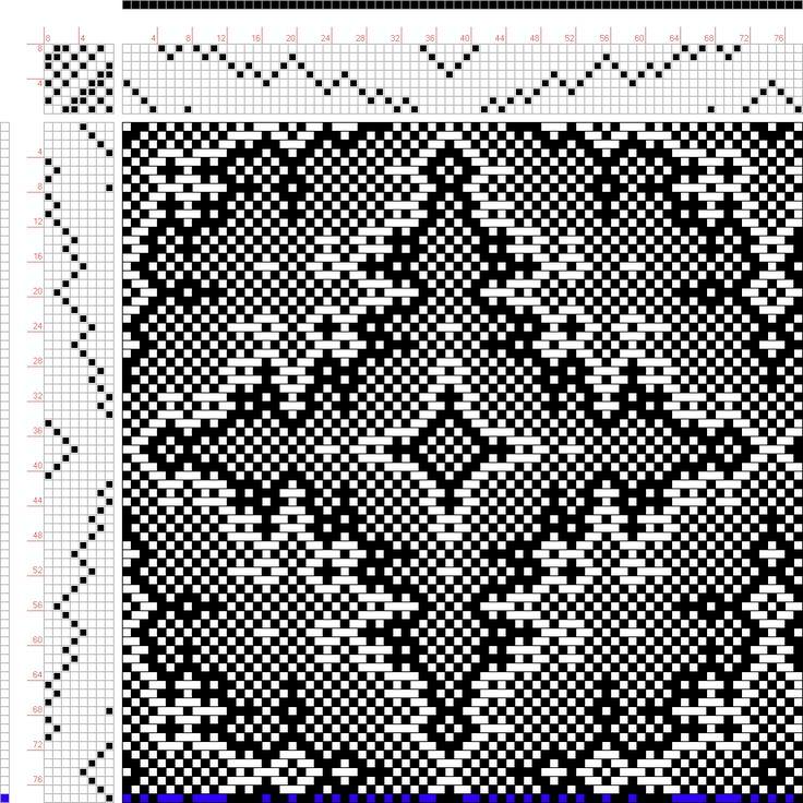 Weaving Draft snakeskin, Draft 45548 Corrected, Same as draft 45548, 2005, #63385