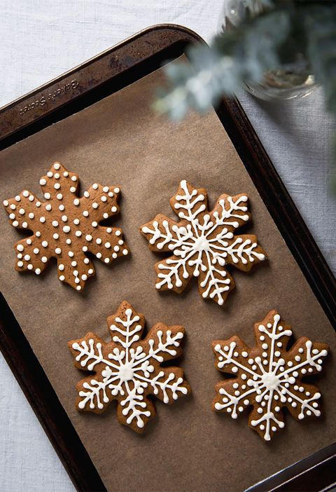 Instead of baking gingerbread people, decorate pretty gingerbread snowflakes. Get the recipe at Pickles & Honey.  Tools you'll need: Pro Chef Kitchen Tools stainless steel mixing bowl ($11, amazon.com)